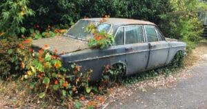 Car Emergency Kit Rusted Dead Car