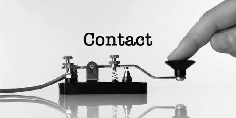Finger Typing Morse Code On A Telegraph To Represent Contact