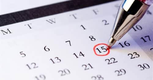Emergency Car Kit Calendar Reminder Date