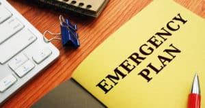 Home Emergency Plan Folder On Desk