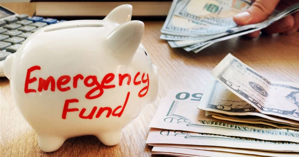 Financial Preparedness With Emergency Cash And Emergency Fund Piggy Bank
