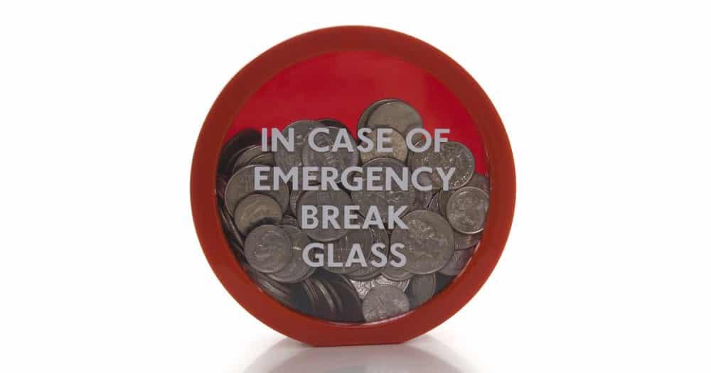 In Case Of Emergency Break Glass For Money