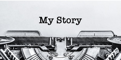 My Story Typed On Paper In A Typewriter