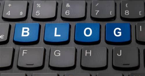 B.L.O.G. Keys On Computer Keyboard Representing Blogging Tools