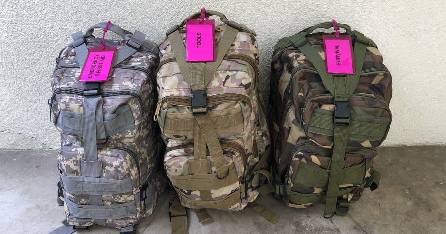 Roadside Emergency Kit Backpacks