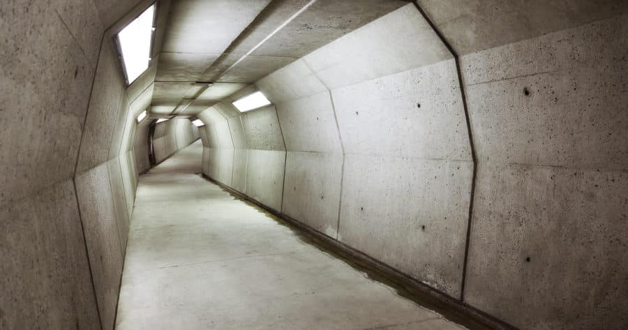 Tunnel To Bunker Known As Presidential Emergency Operations Center